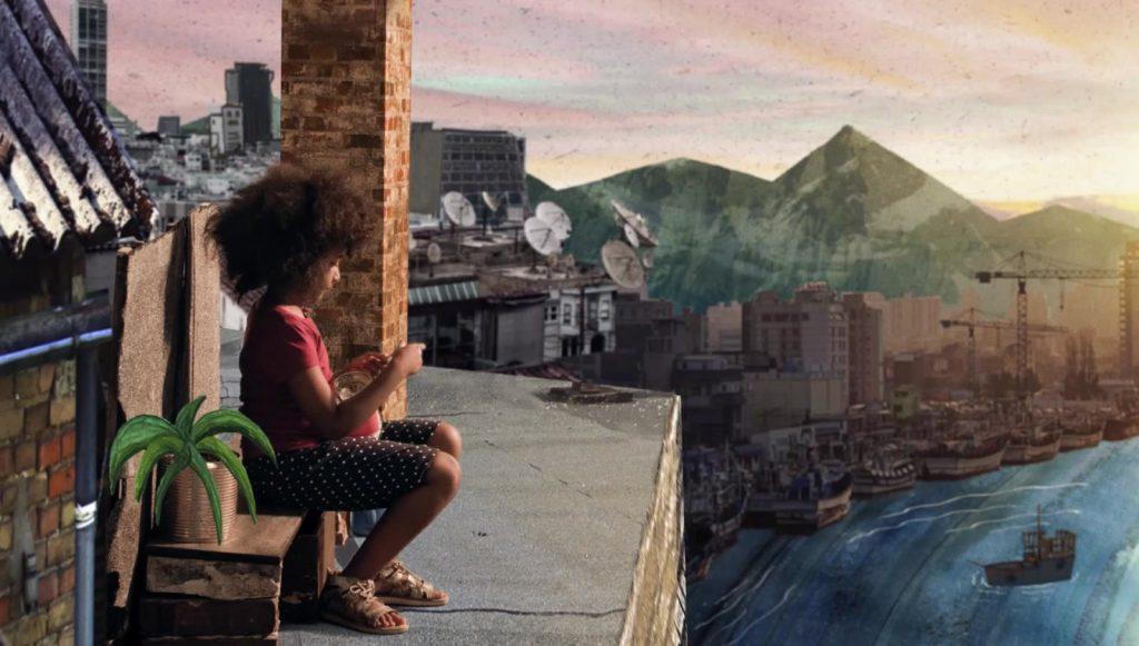 GIGANT Filmstill girl sitz on roof