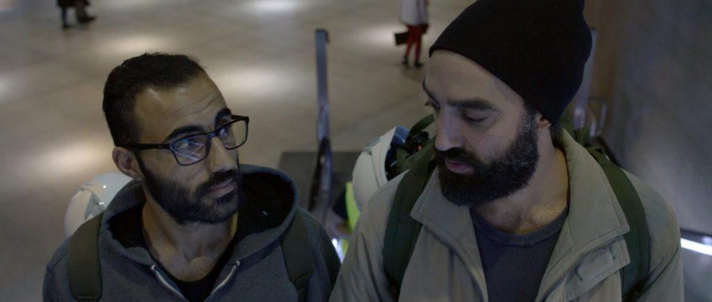 Katharsis Filmstill Flughafen Juan Hasan und Samir Fuchs