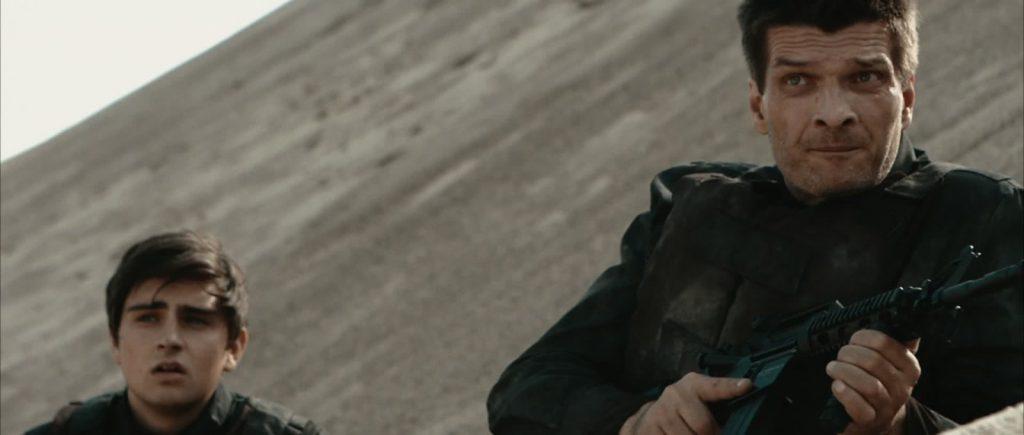 Zwei Soldaten Filmstill - Markus Krojer , Peter Bosch Wueste Lauer